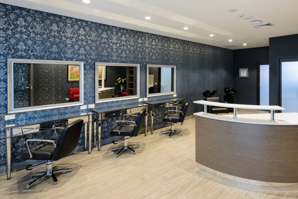 Commercial interiors photography hair salon