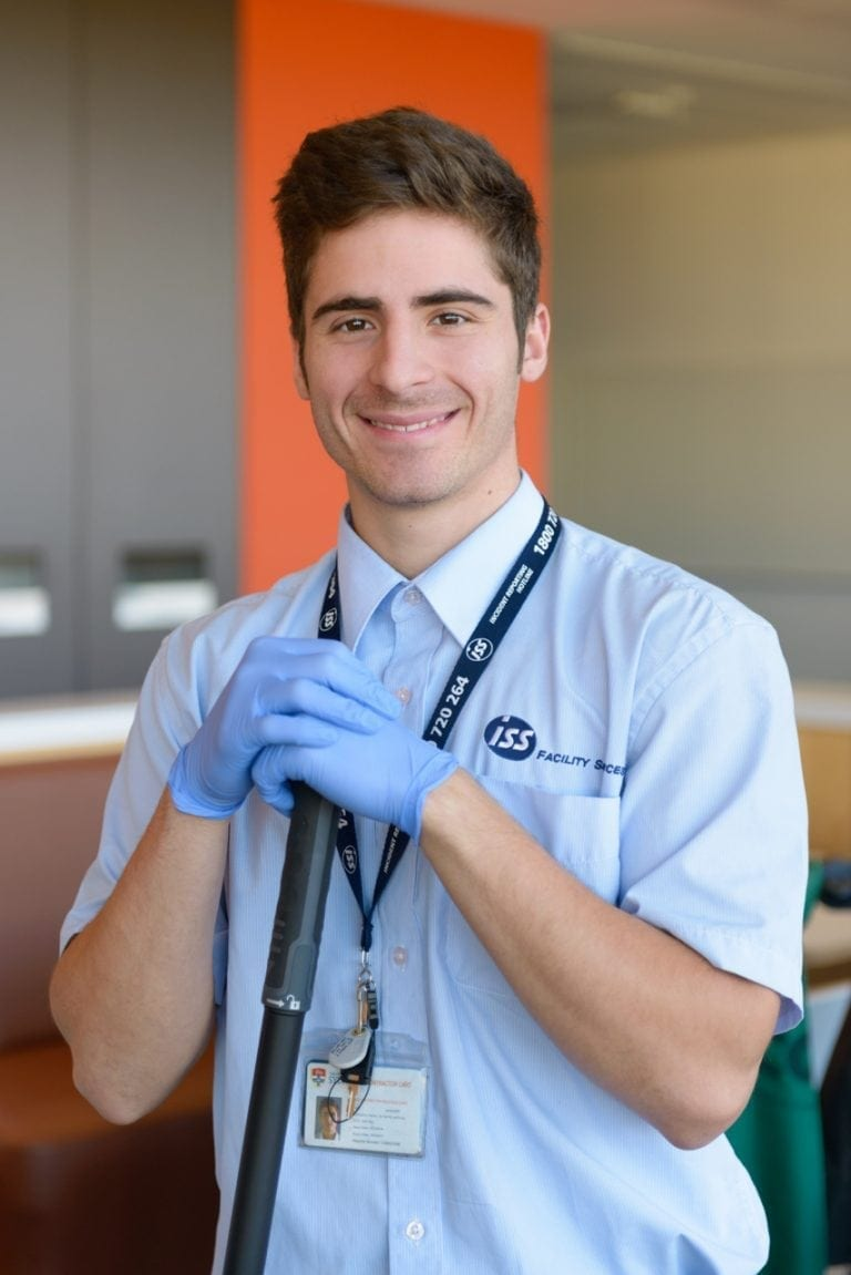 Portrait of a commercial cleaner